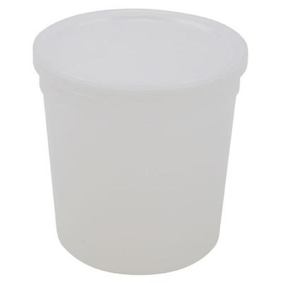 Disposable Specimen Containers with Lid, Transparent, 16oz, case/100