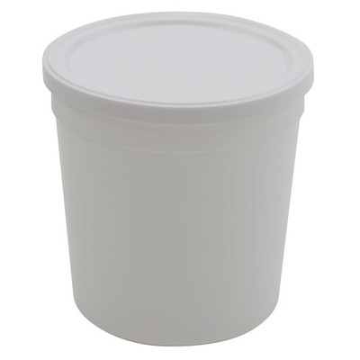 Disposable Specimen Containers with Lid, White 16oz, case/100