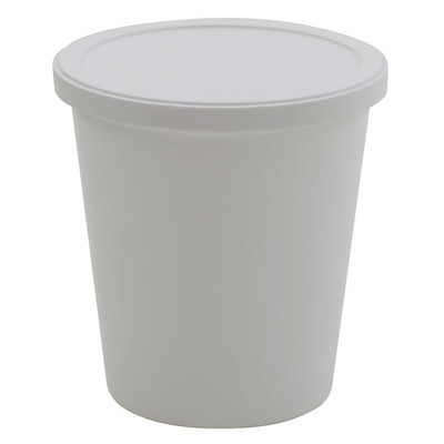 Disposable Specimen Containers with Lid, White, 68 oz, case/50
