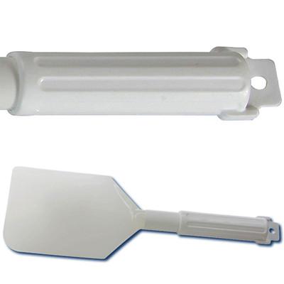 """Lab Spatula Scraper, Soft Polyethylene, 13-1/2"""" x 4-1/2"""" x 7"""""""