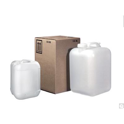 5 Gallon HDPE Square Hedpak, 70-400 PE Gasket Lined Cap, case/4