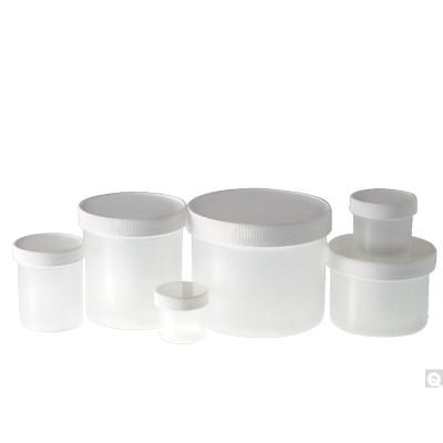 8oz (240mL) PP Jar, 70-400 White Metal Pulp/PE Lined Caps, case/30