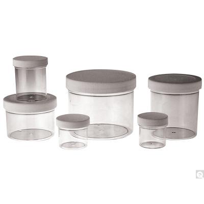4oz (120mL) Clear PS Jar, 58-400 PP SturdeeSeal PE Foam Lined Caps, case/324