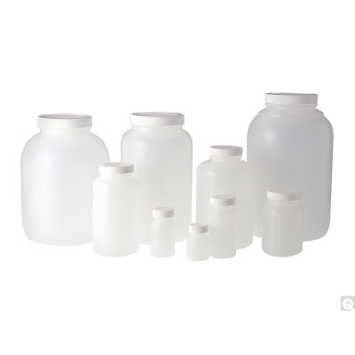 32oz HDPE Tall Wide Mouth Round, 70-400 Phenolic Solid PE Lined Caps, case/106