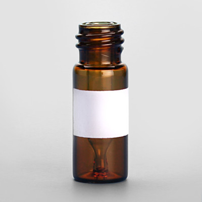 12 x 32mm 300uL Amber Big Mouth Interlocked Vial with Insert and 10-425 neck finish, White Marking Spot, vial only, case/100