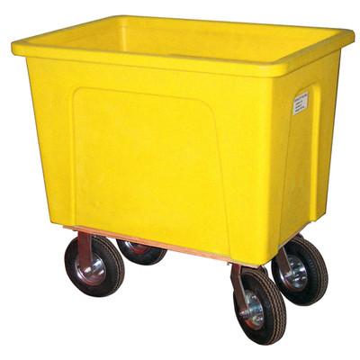 Yellow Plastic Box Truck 12 Bushels, 550 lb Capacity