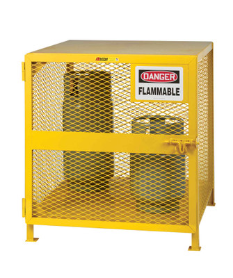 "Gas Cylinder Storage Cage, 4-6 Cylinder Capacity, 36"" x 38"" x 40"""