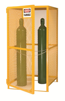 "Gas Cylinder Storage Cage, 5-15 Cylinder Capacity, 36""x 38"" x 70"""