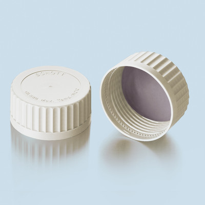 DURAN® Screw Caps, GLS-80 White PSU with PTFE Silicone Seal, pack/5