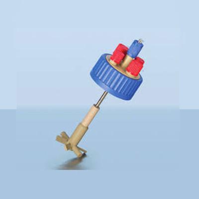 DURAN® GLS-80 Stirred Reactor Cap with Impeller Stirrer for 250mL Bottle