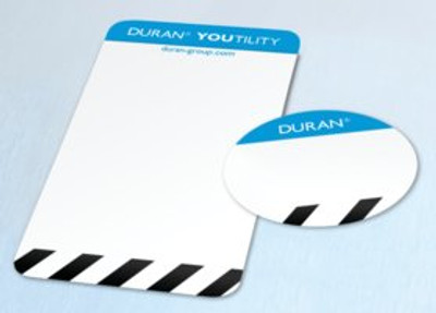 DURAN® YOUTILITY Labels, Autoclave Indicator (200 Bottle + 200 Cap Labels), Adhesive Polyester