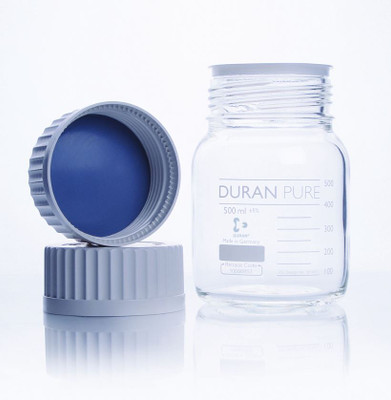 DURAN® PURE Bottle Only, Clear Borosilicate Glass, GLS-80, 500mL, case/10