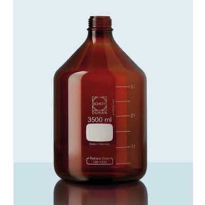 DURAN® PURE Bottle Only, Amber Borosilicate Glass, GL45, 10 Liter, Each