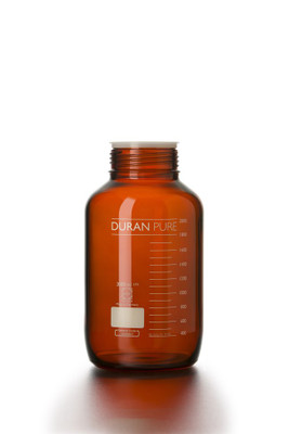 DURAN® PURE Bottle Only, Amber Borosilicate Glass, GLS-80, 2 Liter, case/10