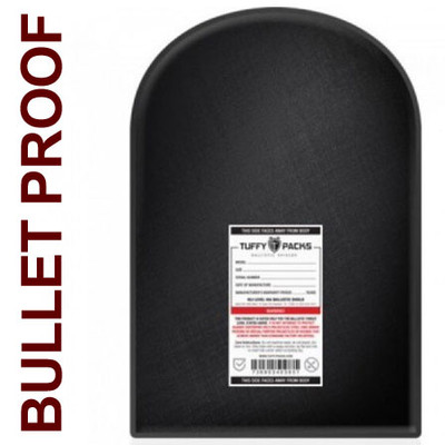 "Ballistic Shield for Large Backpacks, 12 x 18"" Bulletproof Back Pack Insert"