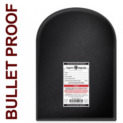 "Ballistic Shield for Standard Backpacks, 12 x 16"" Bulletproof Back Pack Insert"