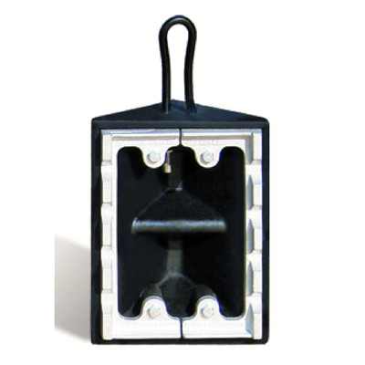 """Commercial Wheel Chock, Rubber, Black, 10"""" x 8"""" x 5.5"""" with Ice Cleat, Single Unit"""