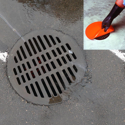 """Storm Drain Seal, Water-Tight Cover, 42"""" Round, 2-Hour Rated, Orange"""