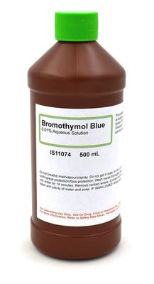 Bromothymol Blue Solution, 0.01%, (Aqueous), 500mL