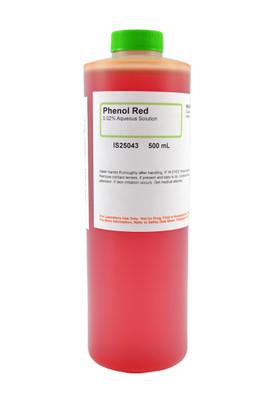 Phenol Red Solution, 0.02%, (Aqueous), 500mL