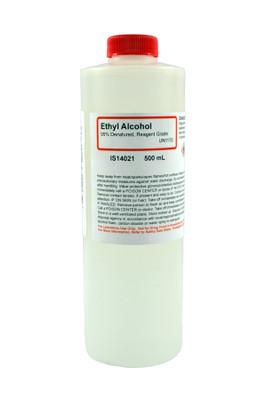Ethyl Alcohol 95%, Denatured, Reagent Grade, 500mL