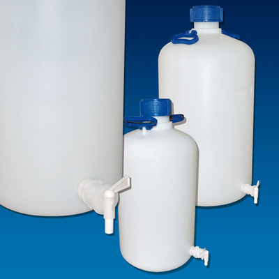 Heavy-Duty Carboy with Spigot, HDPE, 50 Liter