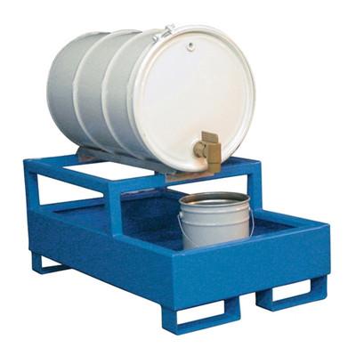 1-Drum Dispensing Pallet, Painted Steel