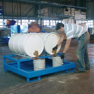 2-Drum Dispensing Pallet, Painted Steel