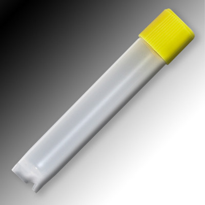 Sample Tubes, 4mL, External Threads, Polypropylene, Round Bottom, Self-Standing, bag/1000
