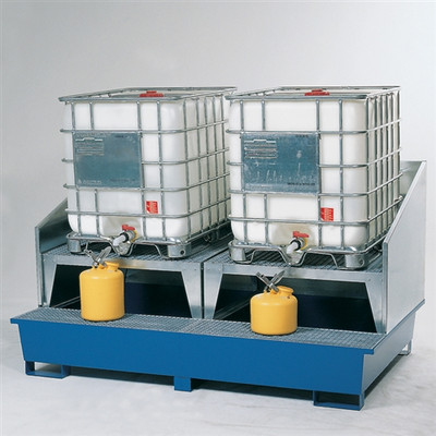 2-Tote IBC Containment, 2 Dispensing Stands, Splash Guard (Painted)
