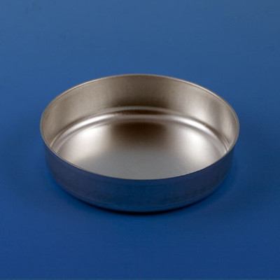 Aluminum Dish, 28mm, 0.3g (8mL), Crimped Side with Tab, case/500