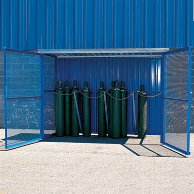 Knock Down Cage for 48 Upright Gas Cylinders, Collapsible