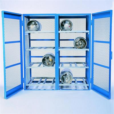 Gas Bottle & Cylinder Storage Cage, Double Horizontal, 16 Cylinder