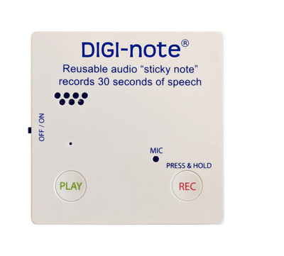 Digi-Note Voice Recording Memo Note Pad, ABS