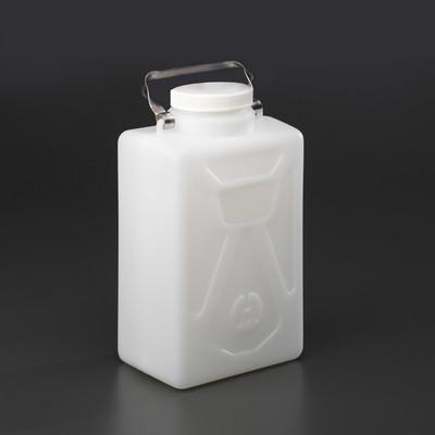 9 Liter Carboy, Rectangular HDPE, 100mm closure