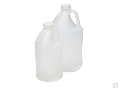 64 oz (2 liter) HDPE, Jug with Handle, 38-400 Caps, case/6