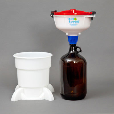 """8"""" ECO Funnel® System, 4L Glass Bottles, Secondary Container"""
