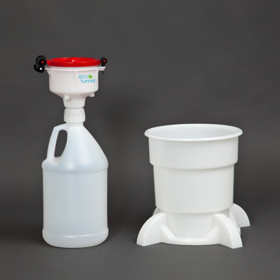"""4"""" ECO Funnel® System, 4 Liter (1 gal) Plastic Jug, Secondary Container"""