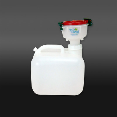 """4"""" ECO Funnel® System, 2.5 gal Rectangular Low Profile Carboy, 63mm Cap Size"""