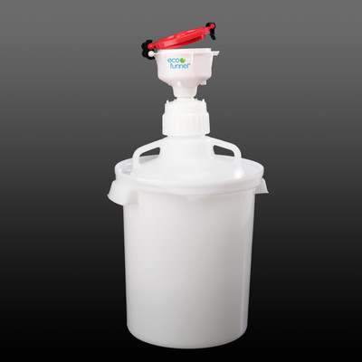 """4"""" ECO Funnel® System, 10 Liter Carboy, 83B Cap, Secondary Container"""