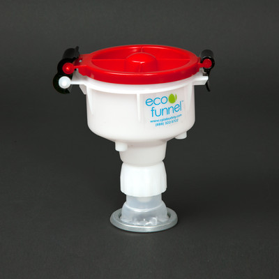 "4"" ECO Funnel with cap adapter for Rieke Flex Spout Pails"