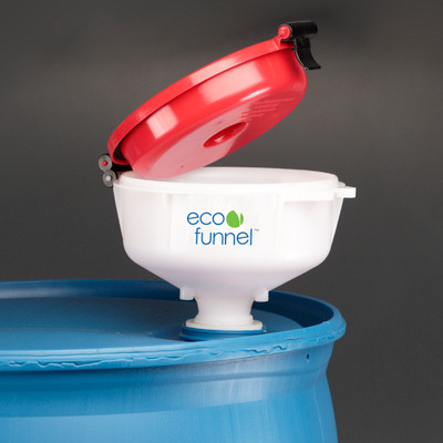 """8"""" ECO Funnel® with 2"""" NPT fine thread cap for Drums"""