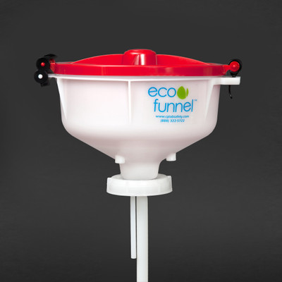 "8"" ECO Funnel with 70mm 8TPI cap adapter (Rieke FS-70)"