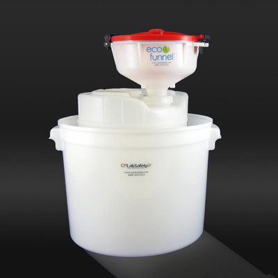 """8"""" ECO Funnel System, 5 gal, 70mm Caps, Secondary Container"""
