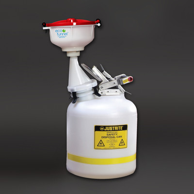 """8"""" ECO Funnel System, Justrite 5 gal Safety Can"""