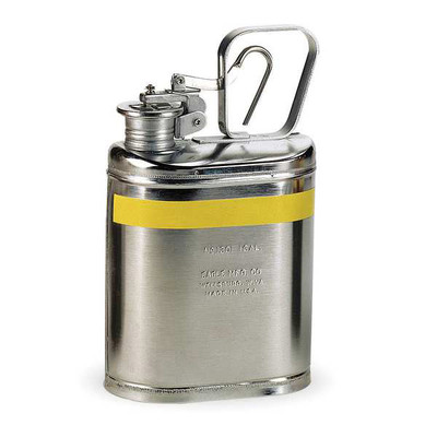 Lab Can, 1 gallon, EAGLE Oval Stainless Steel Safety Can, 1 gallon