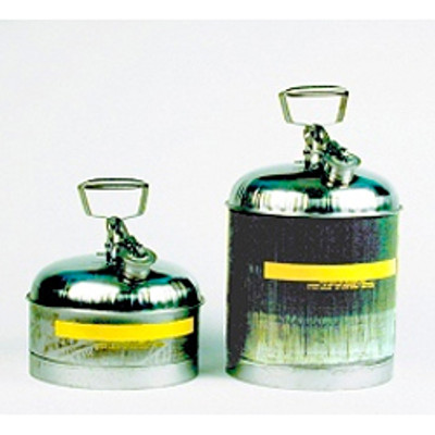 Safety Can, 5 gallon Type I, Stainless Steel with PTFE Lined Cap Gasket