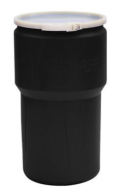Eagle® Lab Drum, Lab Pack 14 gallon, Black with Plastic Lever-Lock Ring
