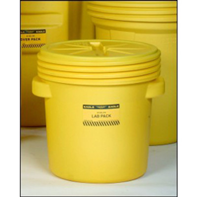 Drum Containment 20 gal Eagle Lab Pack Drum, Screw Top Lid, Yellow