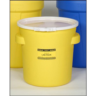 Eagle® Drum Containment 20 gal Lab Pack Drum, Plastic Lever-Lock Band